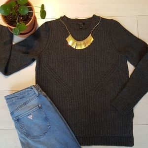 J.Crew 100% Thick Ribbed Knit Wool Sweater